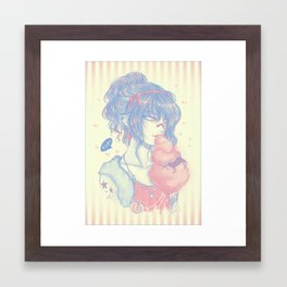 Devil Cotton Candy Framed Art Print