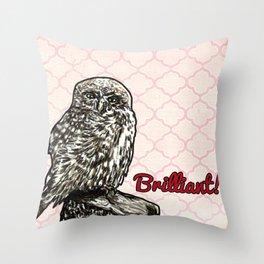 Brilliant Owl- Sassy Bird Throw Pillow