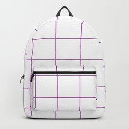 Graph Paper (Purple & White Pattern) Backpack