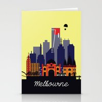 melbourne Stationery Cards featuring Lovely Melbourne by Jollybird Designs