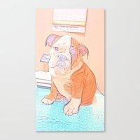 english bulldog Canvas Prints featuring English Bulldog by Ridgerunner64