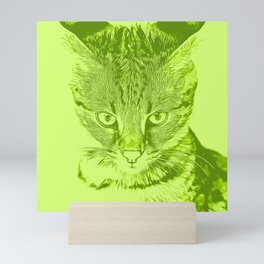 savannah cat portrait vagg Mini Art Print