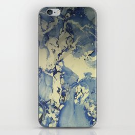 Shadows in Blue and Cream, Marble iPhone Skin