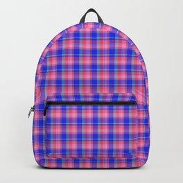 Pink Blue Scottish Tartan Backpack