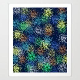 Colorful Crakers Art Print