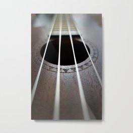 Ukelele Strings Metal Print