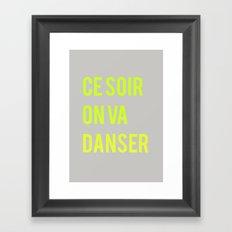 Danser Framed Art Print