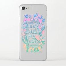 Little & Fierce – Lavender Mint Ombré Clear iPhone Case