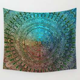 Cold Metal Flower Mandala Wall Tapestry