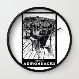 'The Chair' Original Adirondack Art, Adirondacks Wall Art Decor Wall Clock