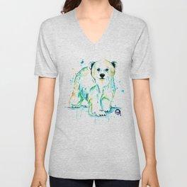 Polar Bear Baby Unisex V-Neck