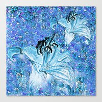 lily Canvas Prints featuring Lily  by Saundra Myles