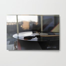 Record Player Still Life Metal Print