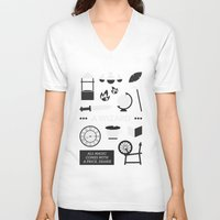 ouat V-neck T-shirts featuring OUAT - A Wizard by Redel Bautista