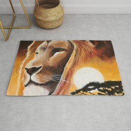 Animal - Lion - Quiet strength - by LiliFlore Rug