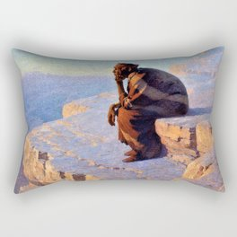 The Great Spirit - Grand Canyon by William R. Leigh Rectangular Pillow