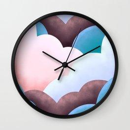 Marshmallow clouds  Wall Clock