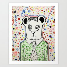 Bear Collaboration Art Print