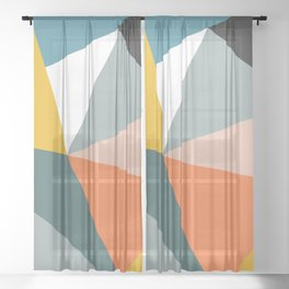 Modern Geometric 33 Sheer Curtain