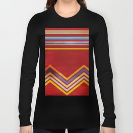 Stripes and Chevrons Ethic Pattern Long Sleeve T-shirt