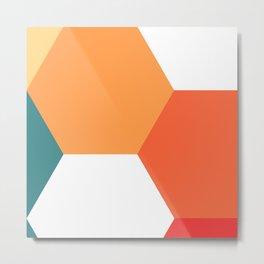 Honeycomb Metal Print