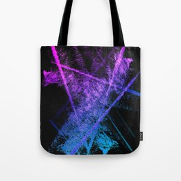 Colorful Abstract Brushstrokes on Black Background Tote Bag