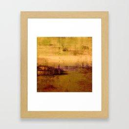 golden abstract landscape Framed Art Print