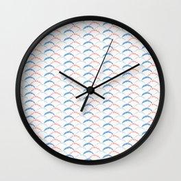 Pastel Geometric Wave Shapes Wall Clock