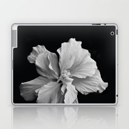 Hibiscus Drama Study - Black & White High Impact Photography Laptop & iPad Skin