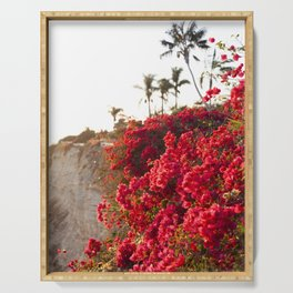 Bougainvillea & Palm Trees Serving Tray