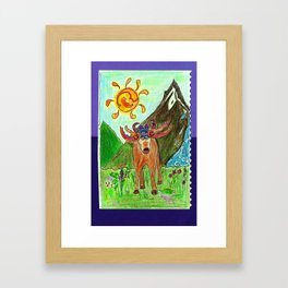 Moose Mountain Framed Art Print
