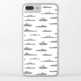 Battleship // Grey Clear iPhone Case