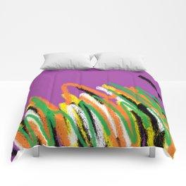 Stripes violet multicolor Comforters