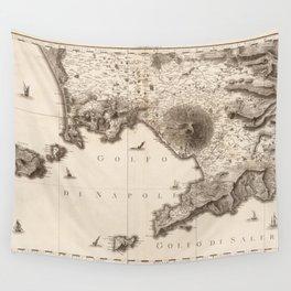 1794 Vintage Map of Napoli, Ischia, Procida, Capri, Salerno in Italy Wall Tapestry