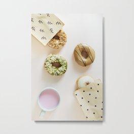 Diverse Donuts Bakery Shop Metal Print