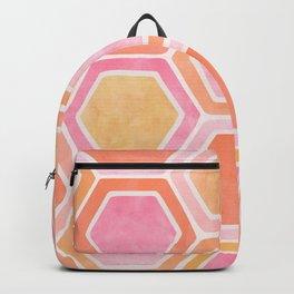 Desert Mood II - Watercolor Hexagon Pattern Backpack