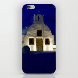 Santorini Chapel During Sunrise  iPhone Skin