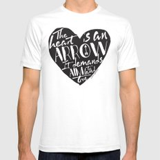 Heart is an Arrow - Six of Crows design SMALL White Mens Fitted Tee