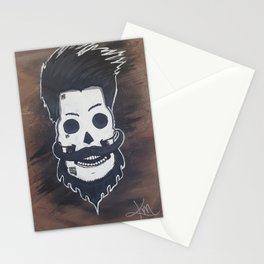 Beardy McSkullFace Stationery Cards