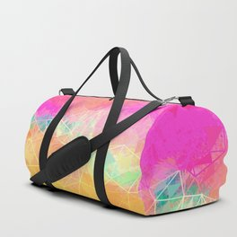 Modern Pastel Rainbow Cascade  Duffle Bag