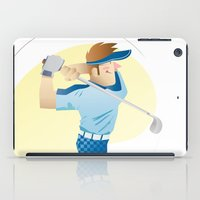 golf iPad Cases featuring Golf by Dues Creatius