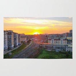 Fuorigrotta quarter at sunset Rug