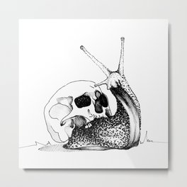 This Skull Is My Home (Snail & Skull) Metal Print