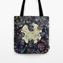 Zombies attack (zombie circle horde) Tote Bag