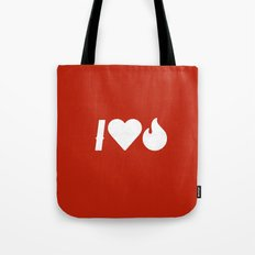 I Love Fire Tote Bag