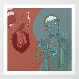 Dragon Boys  Art Print