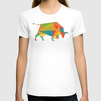 indonesia T-shirts featuring Fractal Geometric Bull by Picomodi