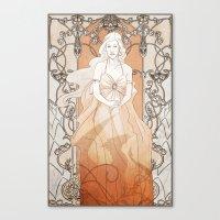 daenerys Canvas Prints featuring Khalisi Art Nouveau by IdentityPollution