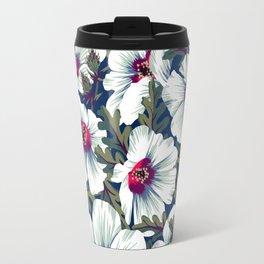 New Zealand Hibiscus Floral Print (Night) Travel Mug