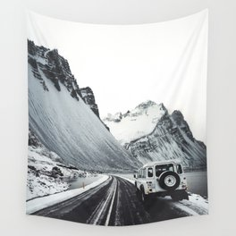 on the road in iceland Wall Tapestry